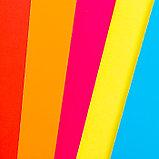 """Цветной картон """"Цветные полосы""""  мелованный, двухсторонний А4, набор 7шт, фото 2"""