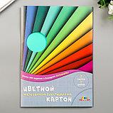 """Цветной картон """"Цветные полосы""""  мелованный, двухсторонний А4, набор 7шт, фото 4"""