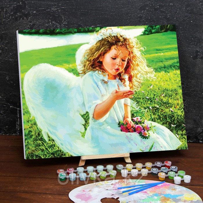 Картина по номерам на холсте с подрамником «Ангел» 40×50 см