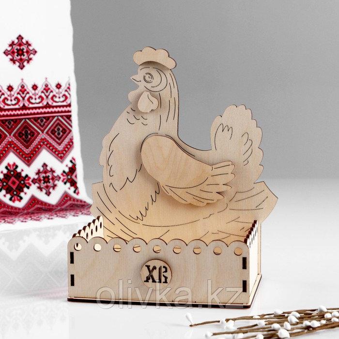"Заготовка для творчества. Пасхальная коробка под яйца ""Курочка"", 20,5х18х21 см"