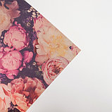 "Бумага упаковочная крафтовая ""Букет цветов"" 50х70 см, фото 3"