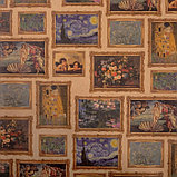 "Бумага упаковочная крафтовая ""Картины"" 50х70 см, фото 2"