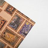 "Бумага упаковочная крафтовая ""Картины"" 50х70 см, фото 3"