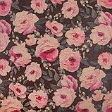 """Бумага упаковочная крафтовая """"Крупные цветы""""50х70 см, фото 2"""