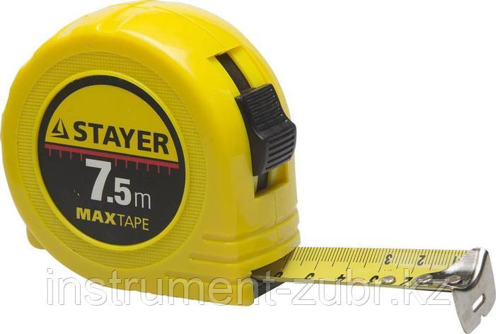 "Рулетка STAYER ""МASTER"" ""MaxTape"", пластиковый корпус, 7м/25мм, фото 2"