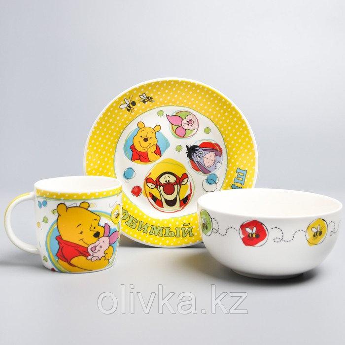 """Посуда детская """"Любимый малыш""""Медвежонок Винни и его друзья,3 пред.тарел.салат. круж."""