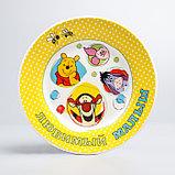 """Посуда детская """"Любимый малыш""""Медвежонок Винни и его друзья,3 пред.тарел.салат. круж., фото 2"""