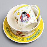 """Посуда детская """"Любимый малыш""""Медвежонок Винни и его друзья,3 пред.тарел.салат. круж., фото 8"""