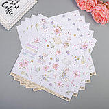 """Бумага для скрапбукинга  """"Феи и цветы """"В мире снов"""" 30.5х30.5 см, 190 гр/м2, фото 2"""