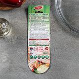 Сковорода 22 см, h=6 см, бакелитовая ручка, стеклянная крышка, фото 7