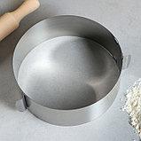 """Форма для выпечки и выкладки с регулировкой размера """"Круг"""", D-12-20, H-6,5 см, фото 3"""