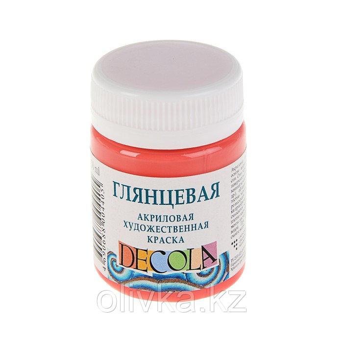 Краска акриловая Decola, 50 мл, коралловая, Shine, глянцевая