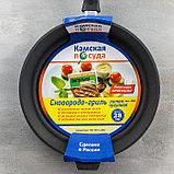 Сковорода-гриль 28 см, h=6 см, бакелитовая ручка, фото 5
