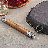 Сковорода-гриль 26х26 см со съемной ручкой, дно 24 см, фото 4