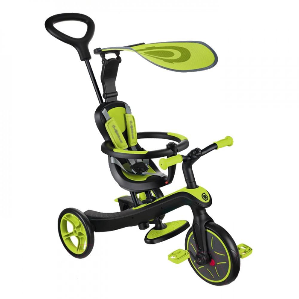 Коляска трансформер, трёхколесный велосипед Globber Trike Explorer 4 в 1, Lime green