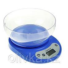 Весы кухонные HOMESTAR HS-3001, электронные, до 5 кг, автоотключение, голубые