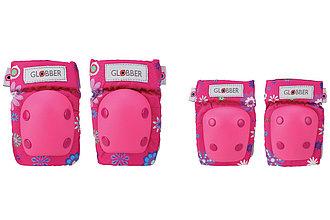 Набор защиты для малышей Globber Toddler Pads, Flowers pink