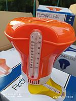 Плавающий дозатор - поплавок для бассейна с термометром