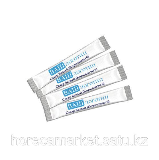 Сахар белый и коричневый в пакетике с логотипом