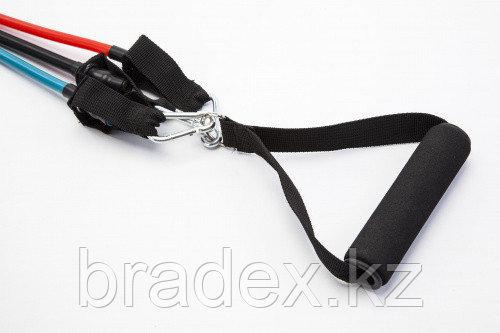Эспандер трубчатый с карабинами, нагрузка до 13,5 кг, черный - фото 2