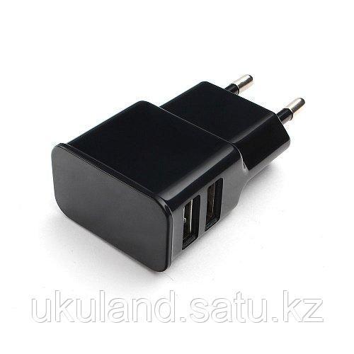 Адаптер питания Cablexpert MP3A-PC-12 100/220V - 5V USB 2 порта, 2.1A, черный