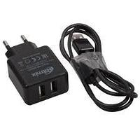 Зарядное устройство сетевое Ritmix RM-2095AC  черный 2 USB