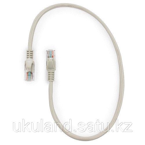 Патч-корд UTP Cablexpert PP12-0.5m кат.5e, 0.5м, литой, многожильный (серый)