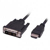 Кабель HDMI-DVI RITMIX RCC-154 , 1.8m, 18+1, single link, CCS, никелированный