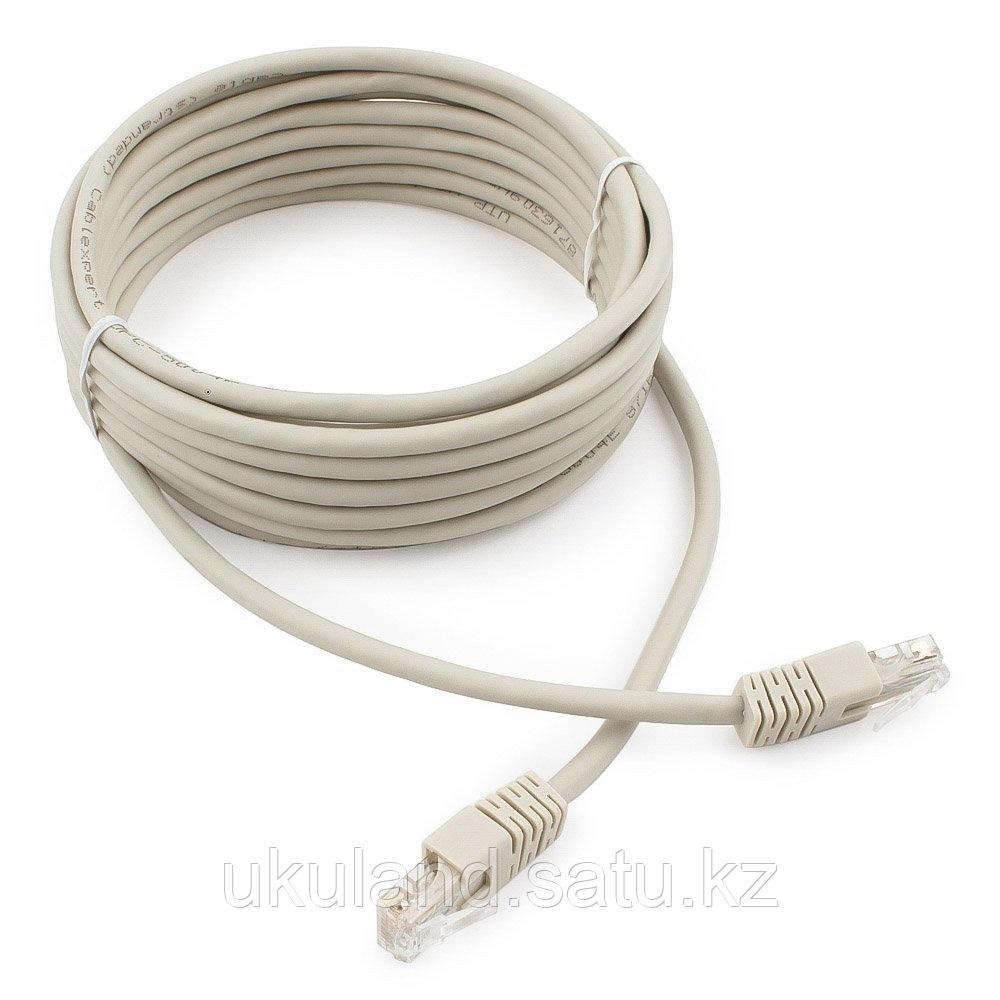 Патч-корд UTP Cablexpert PP6U-5M кат.6, 5м, литой, многожильный (серый)