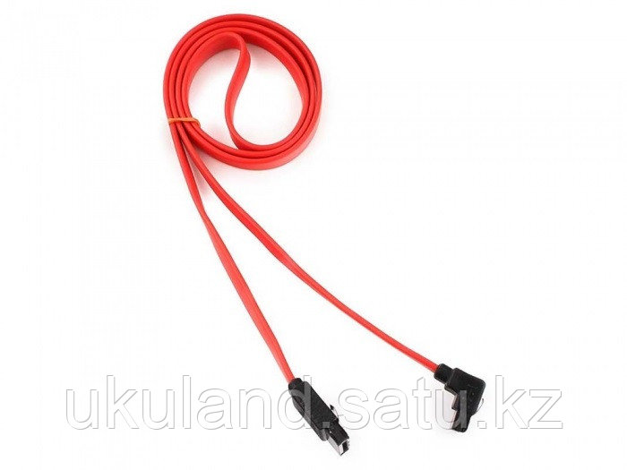 Кабель интерфейсный SATA Cablexpert CC-SATAM-DATA90-0.8M, 80см, угловой разъем, 7pin/7pin, защелка,