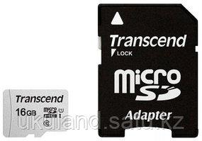 Карта памяти MicroSD 16GB Class 10 U1 Transcend TS16GUSD300S-A