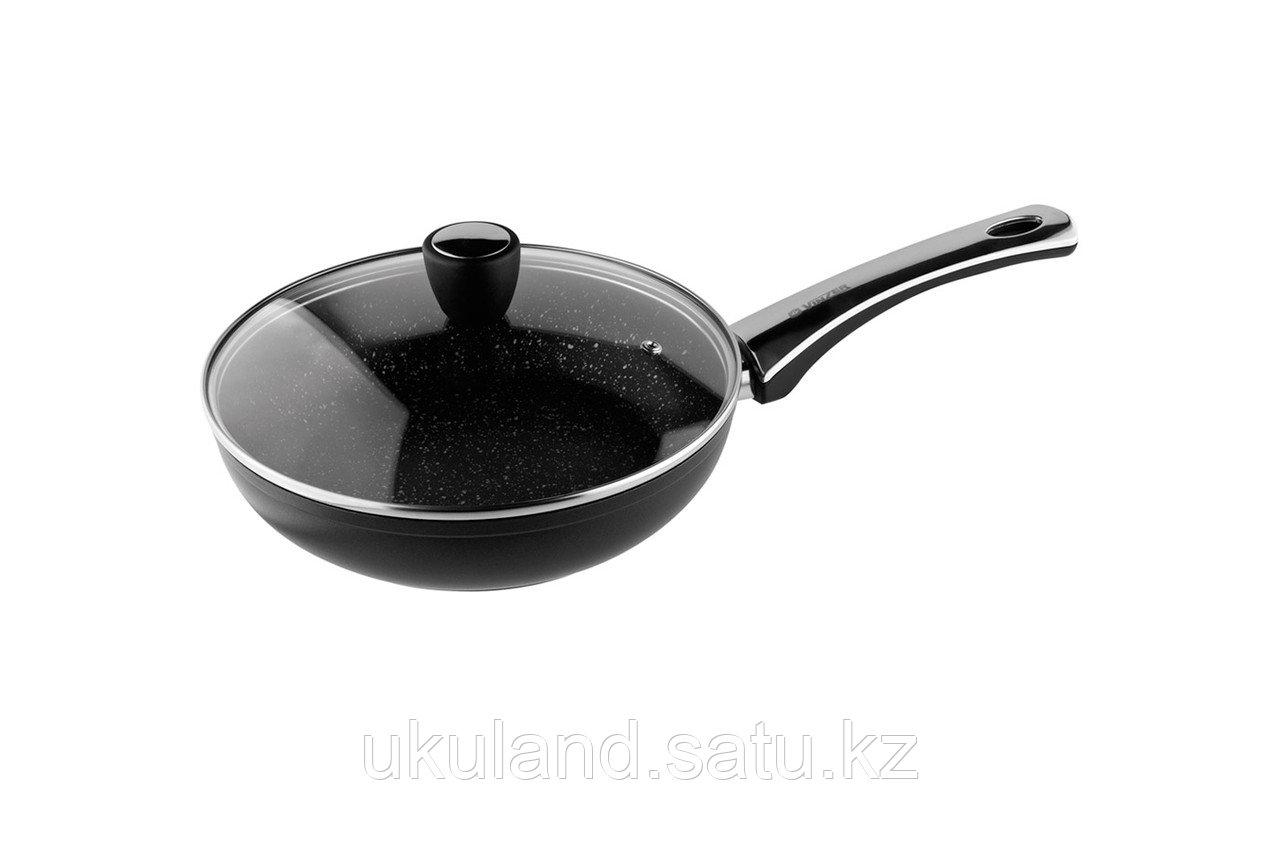 Сковорода VINZER Granite Induction 89435 с крышкой 26 см