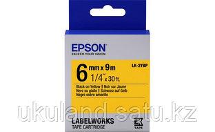 Лента Epson C53S652002LK-2YBPПастельная лента 6мм, Желт./Черн.,9м