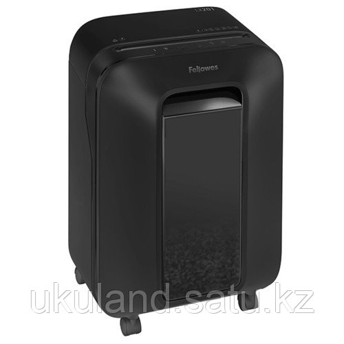 Шредер Fellowes® Powershred® LX201, черный, DIN P-5, 2х12 мм, 12 лст., 22 лтр., Jam Proof™, SafeSens