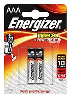 Элемент питания LR03 AAA Energizer MAX  Alkaline 2 штуки в блистере.