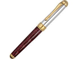 Ручка перьевая Cesare Emiliano серебро, кожа крокодила в футляре