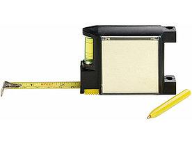 Рулетка на 2 м с уровнем и блоком для записей