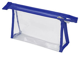 Прозрачная пластиковая косметичка Lucy, синий