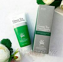 3W Clinic Green Tea Foam Cleansing Пенка для умывания Зеленый чай, 100 мл, фото 2