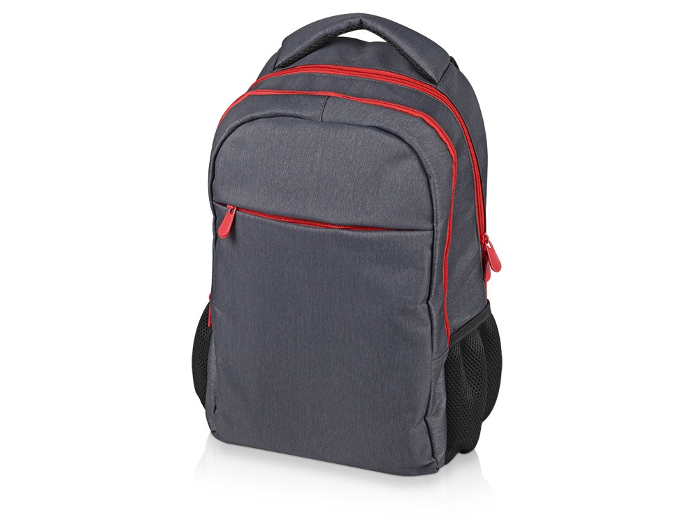 Рюкзак Metropolitan, серый с красной молнией и черной подкладкой