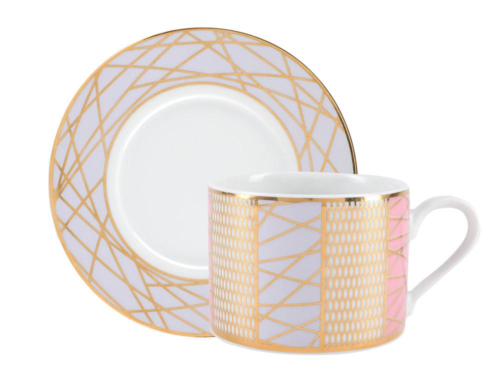 Чашка с блюдцем Соло. Императорский фарфор, авторская работа