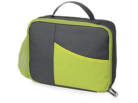 Изотермическая сумка-холодильник Breeze для ланч-бокса, серый/зел яблоко