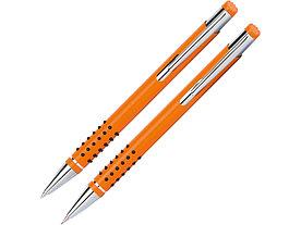 Набор Онтарио: ручка шариковая, карандаш механический, оранжевый/серебристый