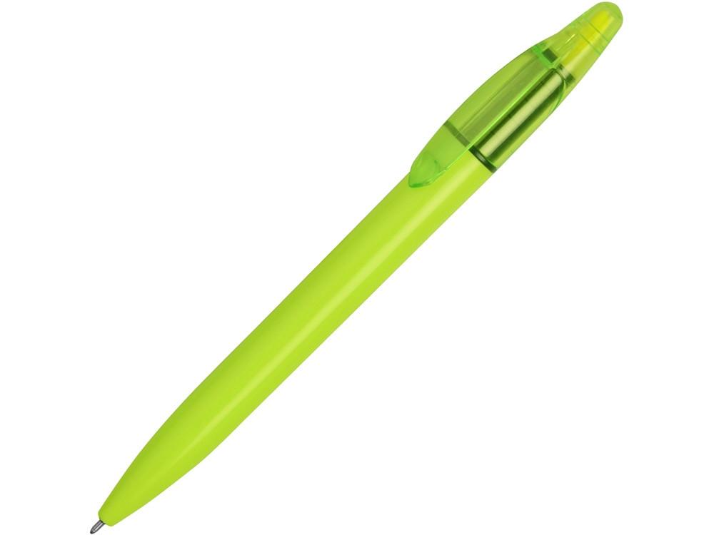 Ручка пластиковая шариковая Mark с хайлайтером, зеленое яблоко