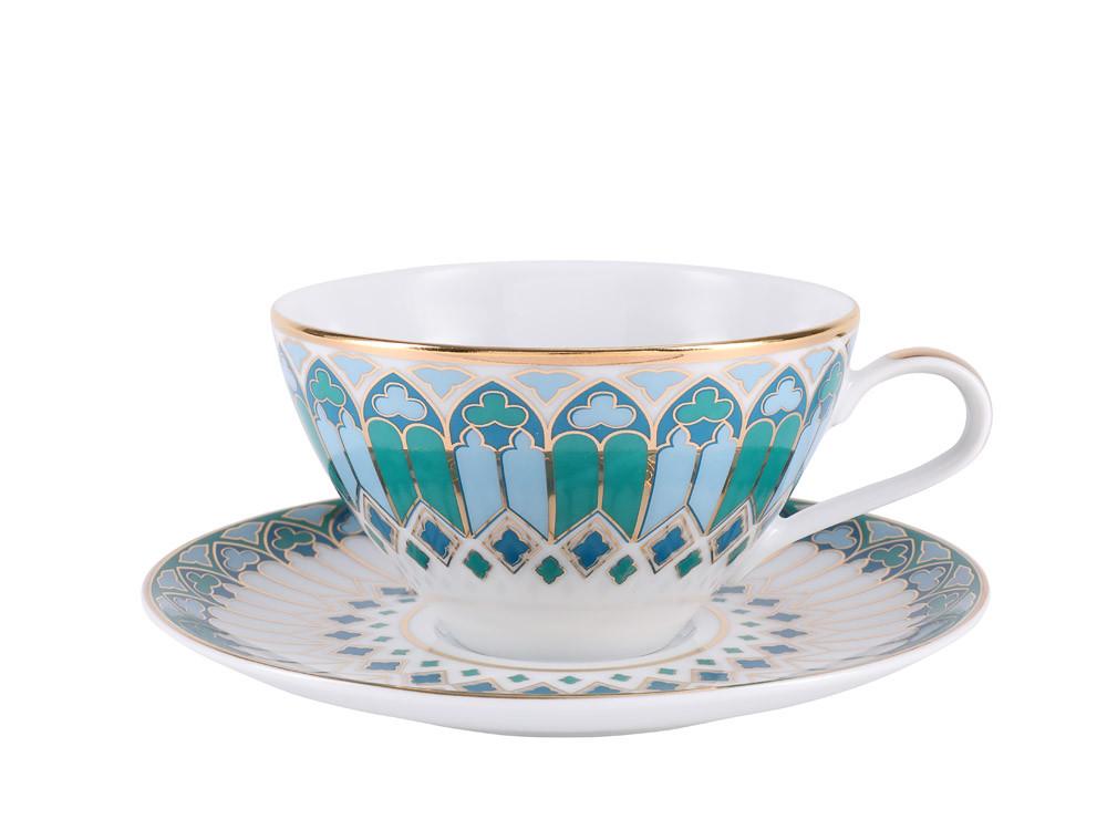 Чашка с блюдцем Готика. Императорский фарфор, авторская работа