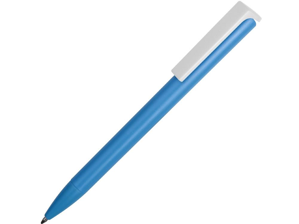 Ручка пластиковая шариковая Fillip, голубой/белый