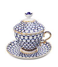 Чайная пара подарочная Кобальтовая сетка. ИФЗ, Санкт-Петербург