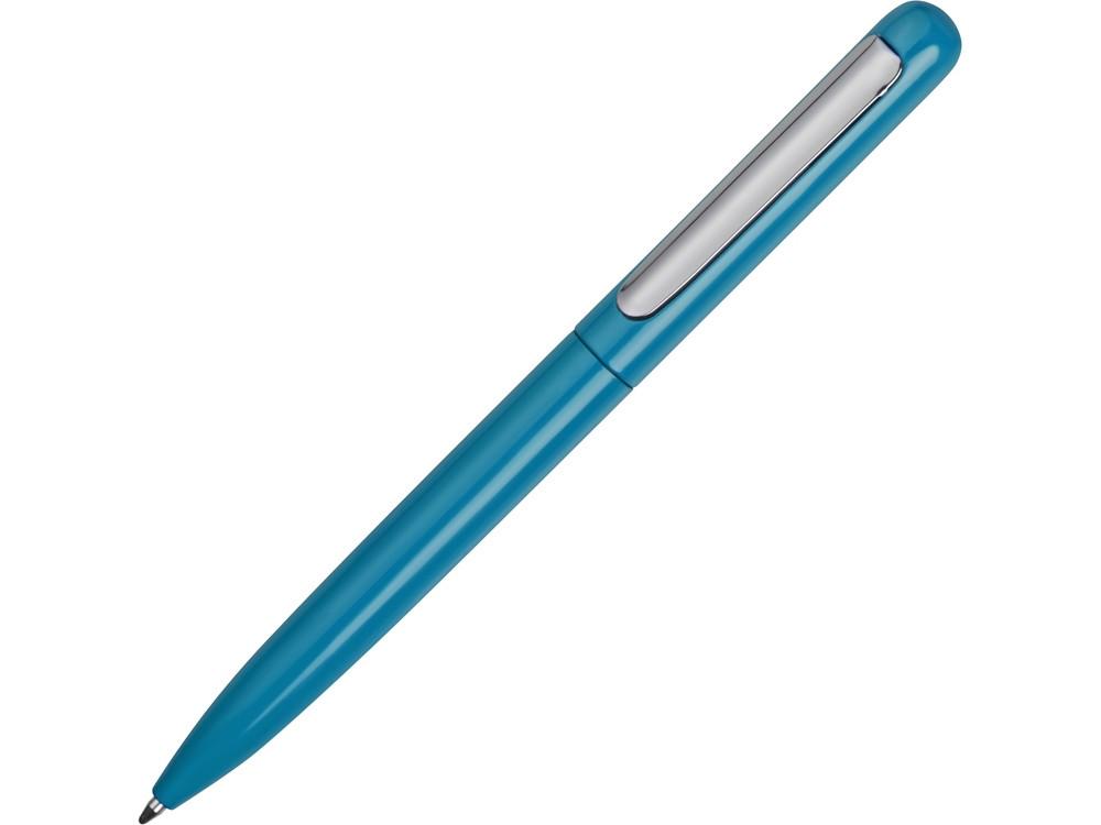 Ручка металлическая шариковая Skate, голубой/серебристый