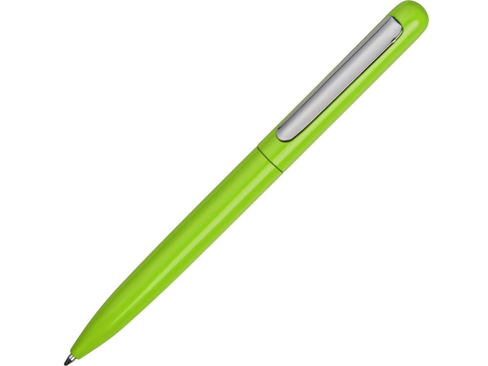 Ручка металлическая шариковая Skate, зеленое яблоко/серебристый