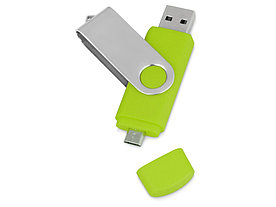 USB/micro USB-флешка 2.0 на 16 Гб Квебек OTG, зеленое яблоко